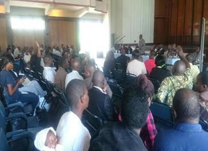 Read more about the article Day 3: NPRC Public Hearings Brought to Mutare…. amid uproar from participants over failure by the Thematic Committees to avail NPRC Bills in advance.