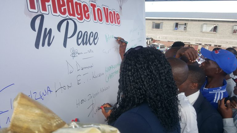 Go out and Vote campaign launched in Epworth ….as aspiring candidates' pledge for peace