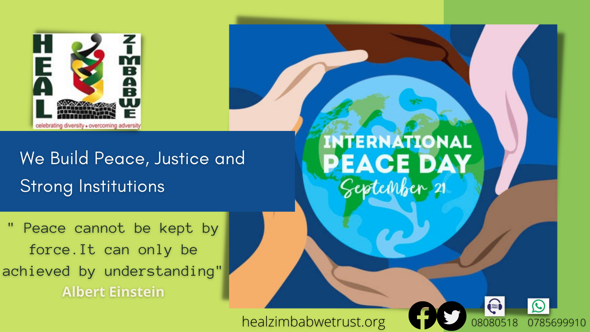 You are currently viewing Heal Zimbabwe statement on International day of peace